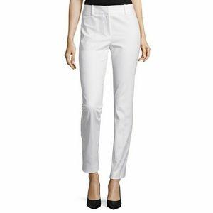 Liz Claiborne Womens White Chino Pants Size 8